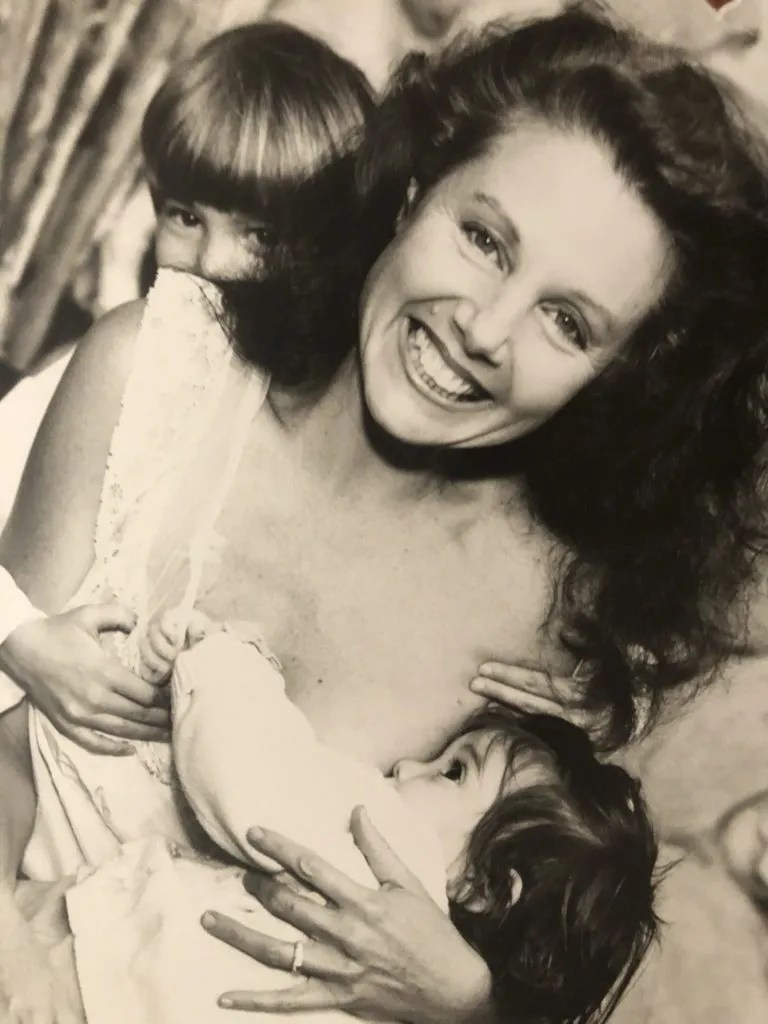 Julia Loggins with Children, Luke and Hana