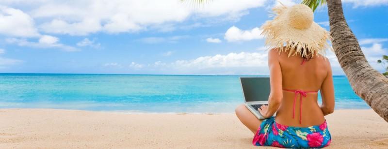 아름다운 해변에서 일을 하며 꿈같은 삶을 누리라는 홍보 문구가 항상 따라다니는 것이 특징이다.