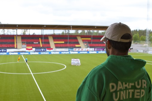 i-ACT Co-Founder and Director, Gabriel Stauring, appreciates the media assistance team DU has received while at the 2014 ConIFA games.