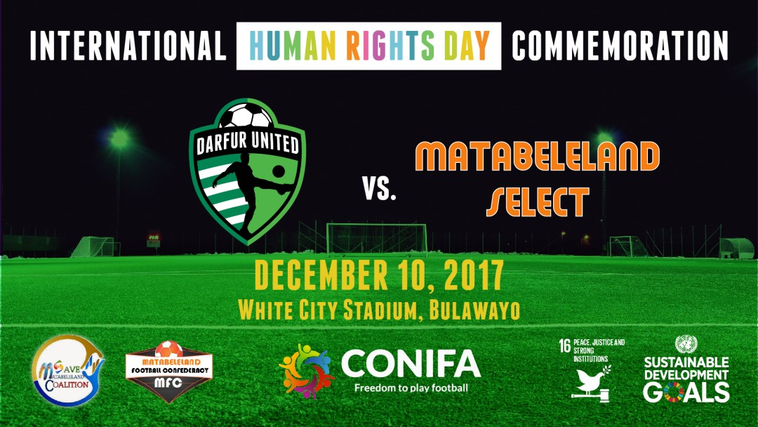International Human Rights Day Commemoration  Darfur United vs. Matabeleland Select