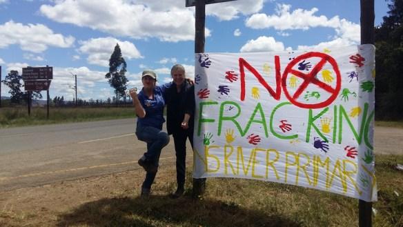 no fracking banner
