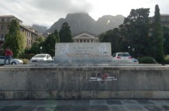 The WW1 and WW2 memorial to UCT staff and students who died fighting.