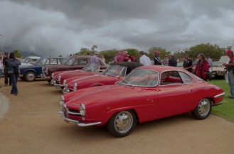 The Giulietta SS next to the Spiders.
