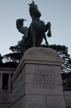 The artistic centrepiece of The Rhodes Memorial; Energy.