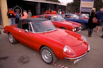 Some Alfas turned up to wave me off.