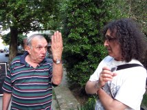 The composer Milko Kolarov and the artist Sasho Anastassov