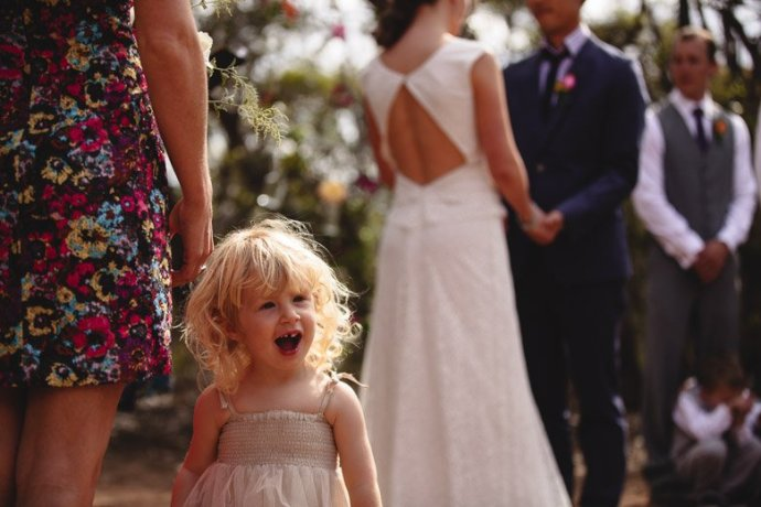 Very happy flowergirl