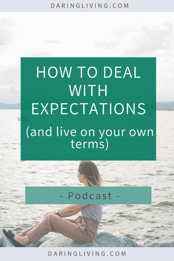 How do you manage exceptions in a relationship, with your boss, or with yourself? On the podcast we discuss how people can set unrealistic expectations for you. Here are some tips on how to deal with expectations from others. Daring Living Podcast #daringliving #expectations #mentalwellness #mindset #selfcare #selflove #emotions #personaldevelopment #relationships #podcast
