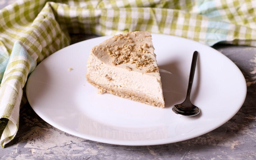 Vegan Ginger Cardamom Cheesecake