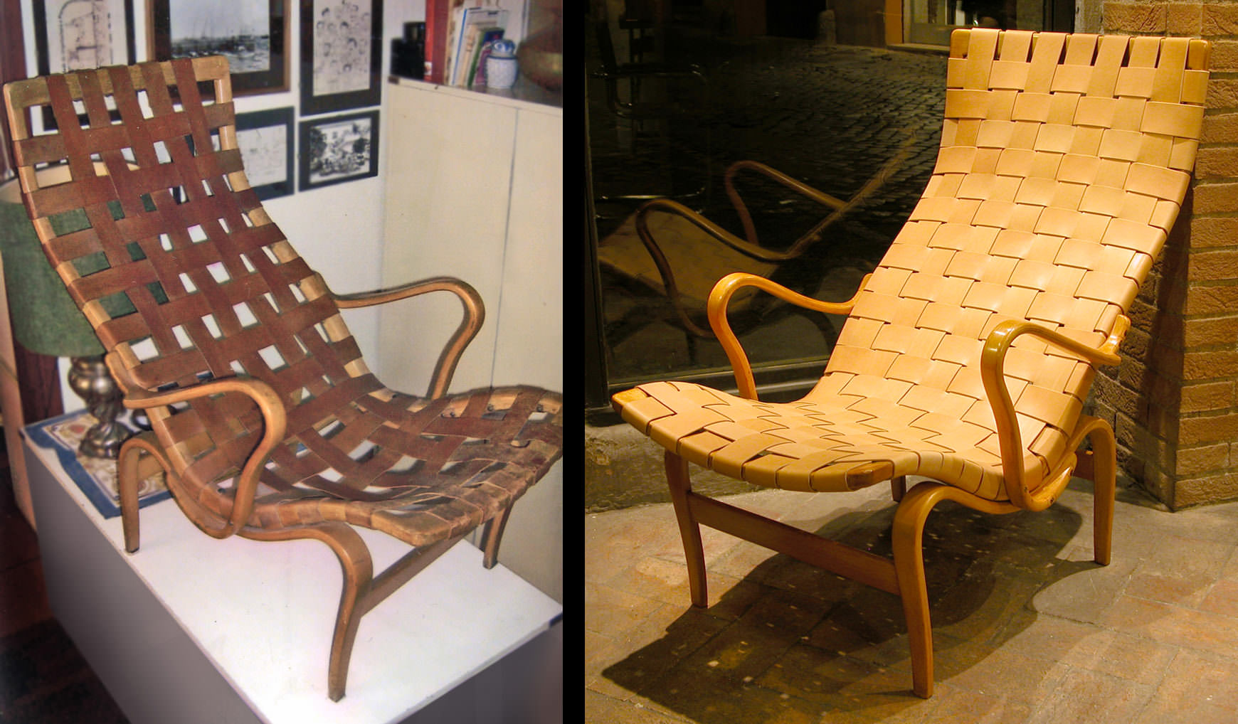 Bruno Mathsson Pernilla before  after restoration