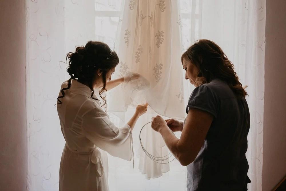 preparativi sposa abito sposa