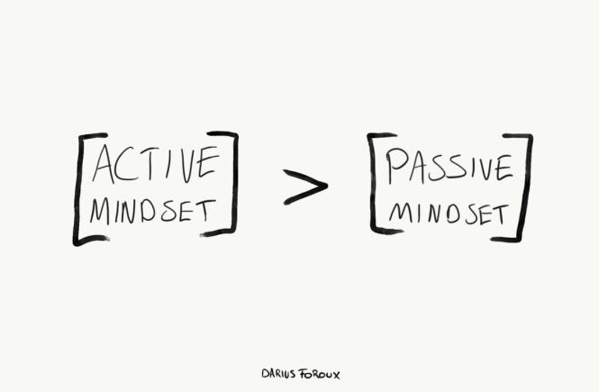 active mindset vs passive mindset