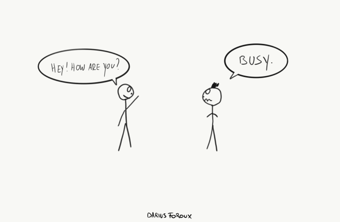 being busy isn't productive