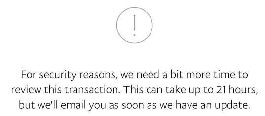 Wypłata na konto TransferWise z opóźnieniem