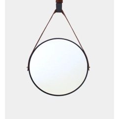 Indoor Hanging Chairs Canada Christmas Covers For Small Round Mirror - Black Tan Leather Strap » Dark Horse