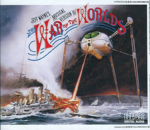 CD cover of Jeff Wayne's Musical Version Of The War Of The Worlds [1978]