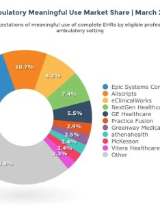 This diagram above shows the market share of ambulatory ehr systems by vendor it was also top rankings put epic first as hospitals rh darkdaily