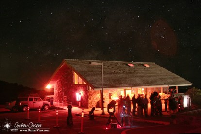 Visitors enjoy telescopes under the star at the Mauna Kea VIS