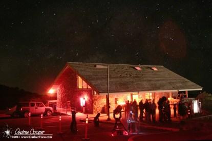 Visitors enjoy telescopes under the star at the Mauna Kea VIS