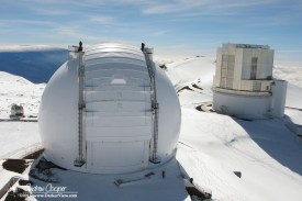 Fesh snowfall from the top of the Keck 2 dome