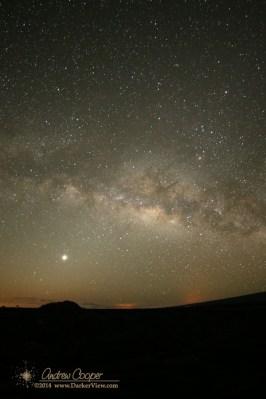Milky Way over Pu'u Huluhulu
