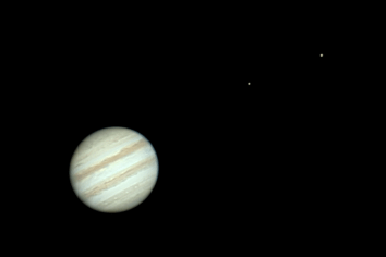 Jupiter and the moons Io and Europa