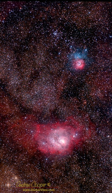 Lagoon and Trifid Nebulae