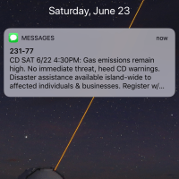 Another Eruption Message
