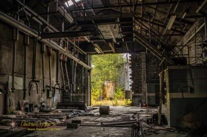 A stripped and abandoned powerhouse at Namu