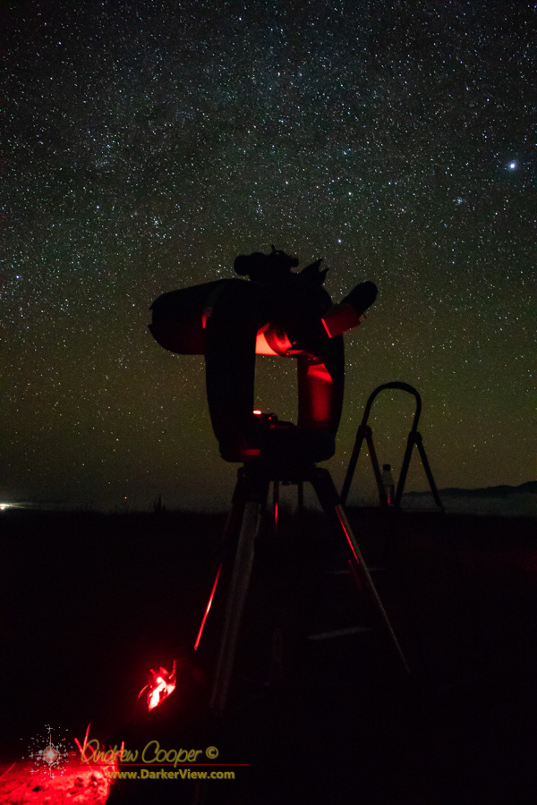 "An 8"" CPC set up under a dark Mauna Kea sky"