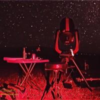 The NexStar 11 setup under the Milky Way at Kaʻohe
