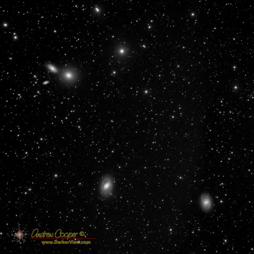 A group of galaxies in Leo including M95, M96, and M105