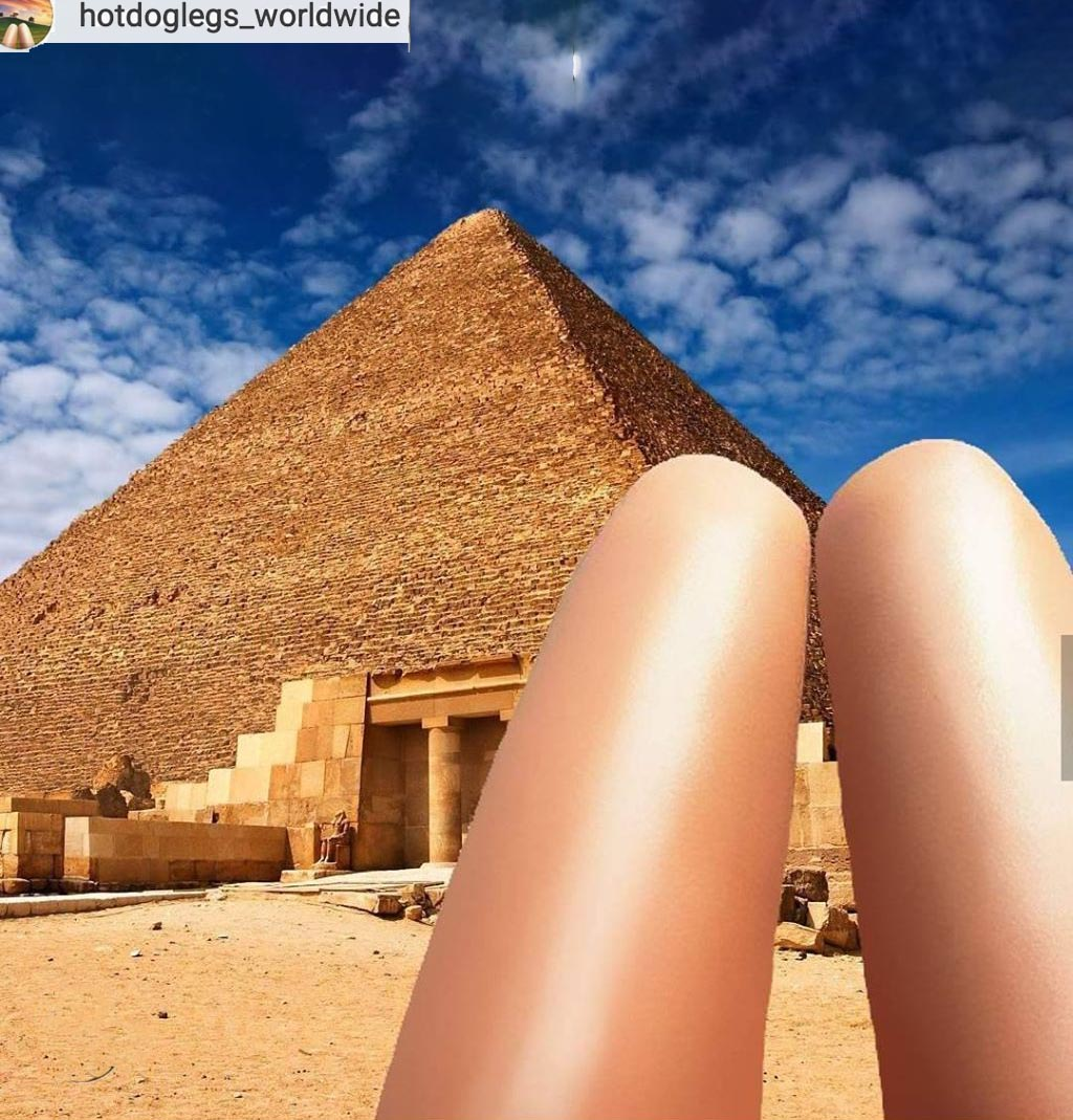 Hot dog legs and pyramids