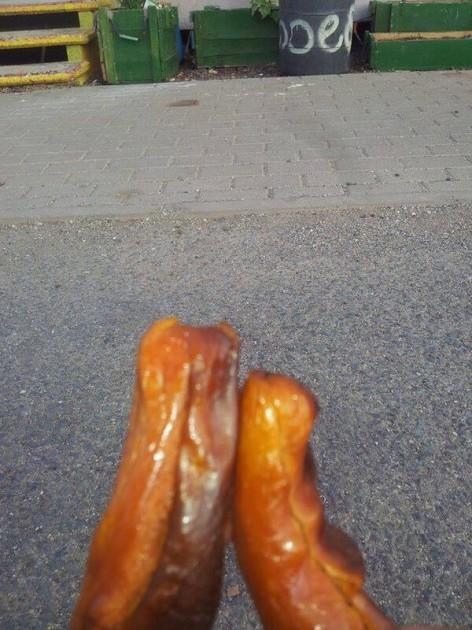 Deformed Hot Dog Legs
