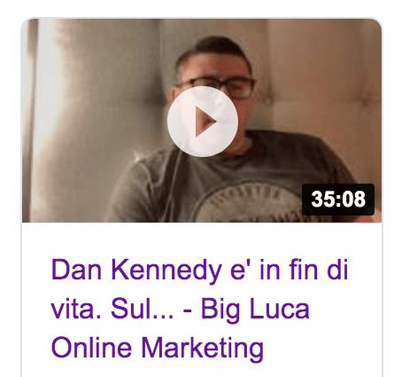 Big Luca diretta Facebook Cancellata