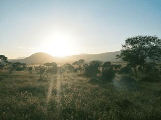 Sunset in Tsavo