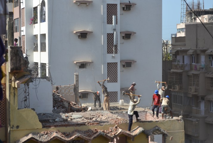 Demolition in Bandra