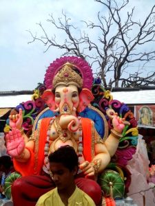 Ganesha carried in street