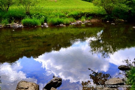 Reflections in river
