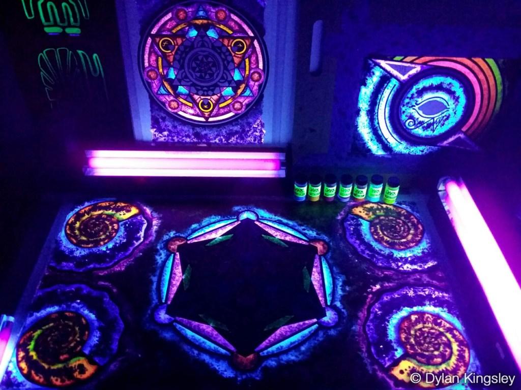 UV Watercolor Paint Liquid Blacklight Dye