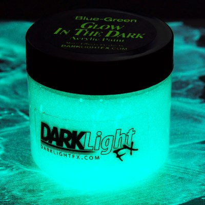 Glow in the Dark Paint Blue Green Professional Grade Turquoise