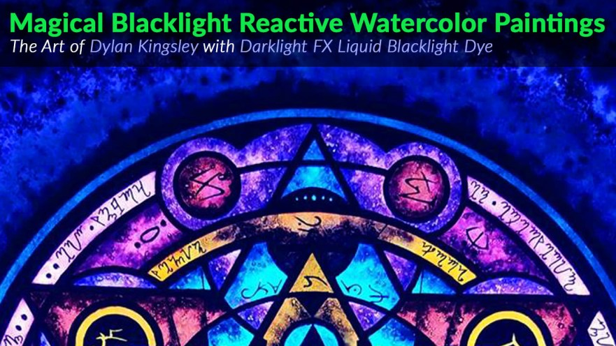 UV Watercolor Painting Blacklight Glowing Effects Dye Paint