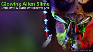 Glowing Alien Blood Paint Effect Blacklight UV Predator