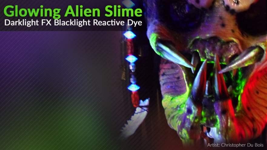 Glowing Alien Blood Paint Effect Blacklight UV Predator