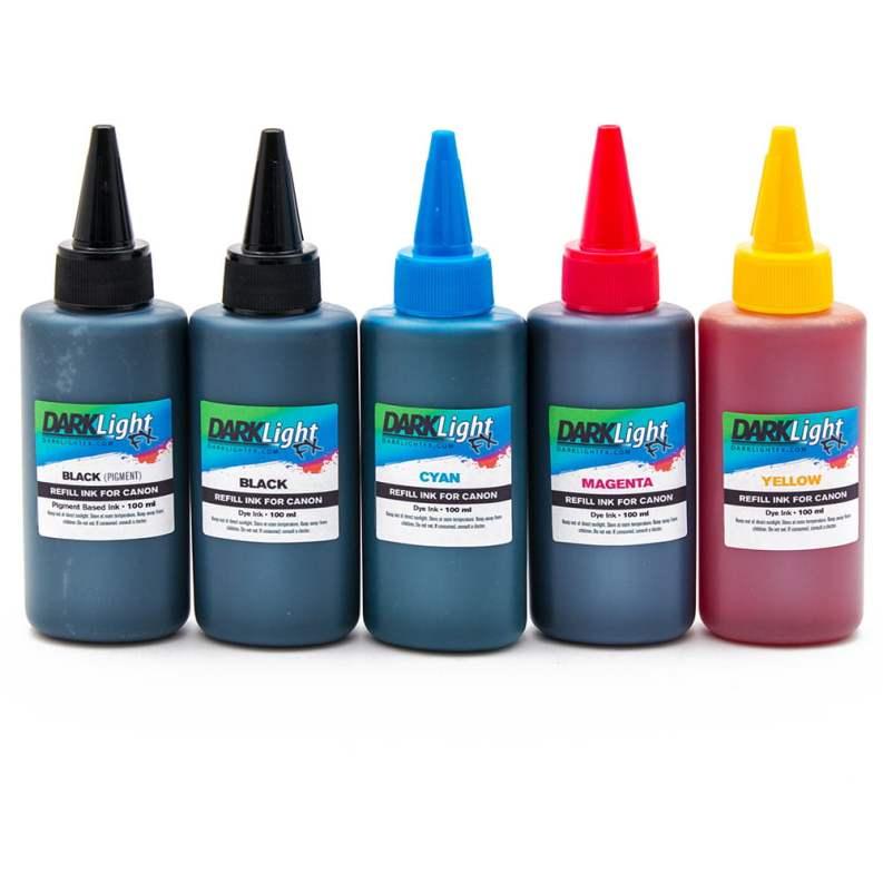 Canon 5 Color Ink Refill Kit Darklight FX