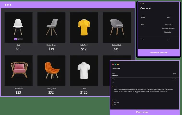 woo commerce layout