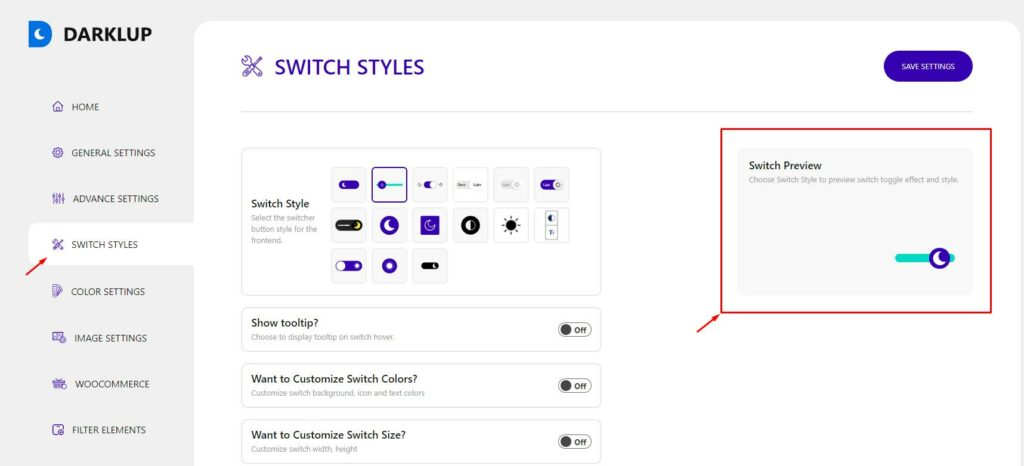 Floating Switch Preview