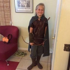 My son as Legolas on Halloween