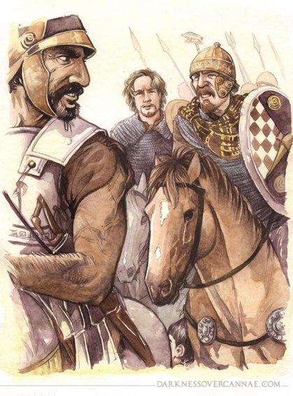 Hasdrubal brings his Celts in line