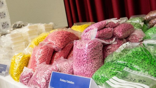 A Picture of the Drugs Seized During the Shiny Flakes Bust